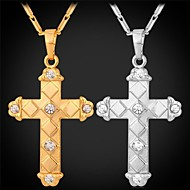 Modische Halsketten Anhängerketten Schmuck Hochzeit / Party / Alltag / Normal Modisch Aleación / Strass / Platiert / vergoldetGoldfarben