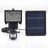 y-solar 60 led napelemes vezetett sürgősségi tölthető lámpa LED fény kemping PIR érzékelő kültéri napelemes lámpák sl1-17