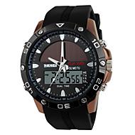SKMEI Heren Sporthorloge Digitaal horloge Chronograaf Dubbele tijdzones Zonne-Energie Digitaal Band Luxueus