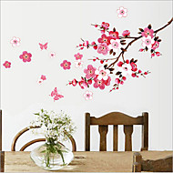 Chinese stijl pruimenbloesem pvc muursticker