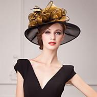 여성 플라워 걸 오르간자 투구-웨딩 특별한날 캐쥬얼 사무실 & 직업 야외 모자