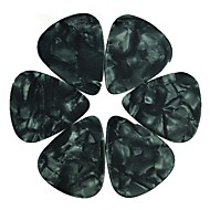 gemiddeld 0.71 mm plectrums plectrums celluloid parel zwart 100st-pack