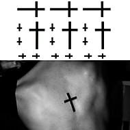 Tatuointitarrat Toteemisarja - Paperi - Non Toxic/Alaselkä/Waterproof - the Cross - 6*10.5cm (2.36*4.13in) - Musta - 1 pc -