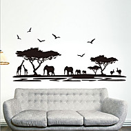 milieu-verwijderbare Afrikaanse savanne pvc-tags&sticker