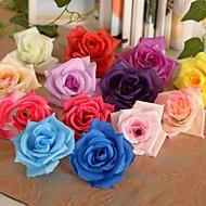 6-delig 1 Tak Zijde Kunststof Rozen Bloemen voor op tafel Kunstbloemen