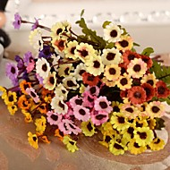 Tak Zijde Kunststof Chrysant Bloemen voor op tafel Kunstbloemen