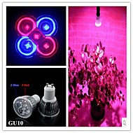 5W GU10 LED Aufzuchtlampen MR16 3 High Power LED 500 lm Rot / Blau AC 85-265 V 1 Stück