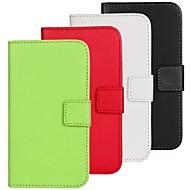 Mert Samsung Galaxy tok Pénztárca / Kártyatartó / Állvánnyal / Flip Case Teljes védelem Case Egyszínű Műbőr Samsung S4 Active