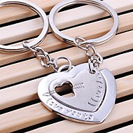 double srdce snubní klíčenka klíčenka pro milenec den svatého Valentýna (jeden pár)
