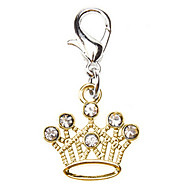 Golden Crown Style Metal Tags  For Dogs/Cats