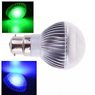 1 pcs ding yao B22 10W 1X SMD 5730 400-800LM RGB Remote-Controlled Globe Bulbs AC 85-265V