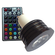1 pcs SchöneColors® GU10 4W 1X High Power LED RGB Dimmable/Remote-Controlled/Decorative Spot Lights AC 85-265 V