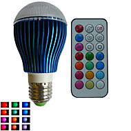 1개 SchöneColors® GU10/E26/E27 9 W 3PCS 고성능 LED RGB LM 색상 변경/RGB B 밝기 조절/리모컨 작동/장식 글로브 전구 AC 85-265 V