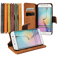 Frosted Iines Colo PU Leather Full Body Case with Stand Slot for Samsung Galaxy S6 Edge(Assorted Colors)