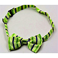Green Hawaii Stripe Neck Tie for Pets Dogs Cats (Neck: 26-38cm)