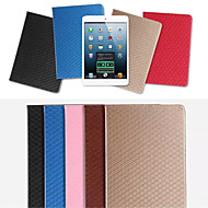 Grid TPU Card Wallet Leather Case Stand Cover for Apple iPad Air(Assorted Colors)