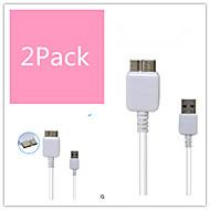 samsung Not 3/4 ve S5 için şarj / veri senkronizasyonu / yüksek hızlı mikro USB 3.0 abs kabloları