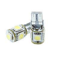 T10 149  W5W LED Blue/Red/Warm White/Green/Yellow/White 1.5W 5X5050SMD 90LM   for Car Light Bulb  (DC12-16V)
