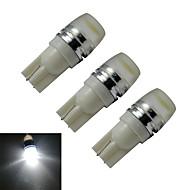 1.5W T10 Oświetlenie dekoracyjne 1 High Power LED 90lm lm Zimna biel DC 12 V 3 sztuki
