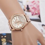 yoonheel 女性用 ファッションウォッチ ダミー ダイアモンド 腕時計 模造ダイヤモンド クォーツ 金属 バンド シルバー ゴールド ローズゴールド