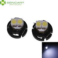 2 X T4.2 2LED 3528SMD Cool White Light  for Car Dashboard Light Bulb (DC12-16V)
