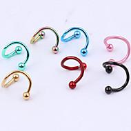 Γυναικεία Κοσμήματα Σώματος Piercing χειλιών Labret, Lip Piercing Jewelry Piercing αυτιών μύτη Piercing Ανοξείδωτο ΑτσάλιΜοναδικό