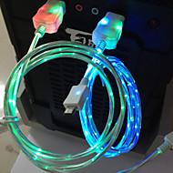vedl kabel 1 m 3 ft LED světlo micro usb v8 datový kabel nabíjecí kabel pro Samsung s3 s4 htc nokia MP3, MP4