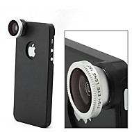Apexel Detachable 180° Fisheye Fish Eye Lens with Back Cover Case for iPhone 5/5S(Assorted Color)