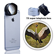 Evileye Super Far Sight 7X Telephoto Lens for iPhone 5/ 6/ 6 Plus Detached to Crystal Mounting Plate (Assorted Colors)