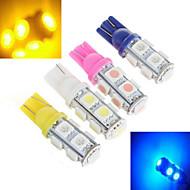Lampadine alogene 9 SMD 5050 ding yao T10 5 W 1000 LM Luce fredda / Rosso / Blu / Giallo 2 pezzi DC 12 / DC 24 V