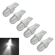JIAWEN® 6pcs T10 0.5W 30-50LM 6000-6500K Cool White Car Signal Lamps LED Car Light (DC 12V)