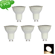 5PCS GU10 9W(=Halogen 75W)  3000K Warm White CRI>80 15x3022SMD LED 810LM LED Spot Light Bulb (AC 220-240V)
