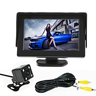 renepai® 4,3 hüvelykes monitor + 170 ° hd autó tolatókamera + nagy felbontású, széles látószögű vízálló CMOS kamera