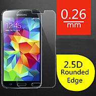 hoge kwaliteit 2.5d ronde rand 0,26 mm explosieveilige gehard glas screen film voor Samsung Galaxy S5