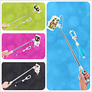 Cable Take Pole Extendable Selfie Camera Handheld Monopod Stick with Mobile Phone Holder for iPhone 6 (Assorted Colors)