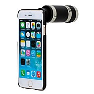 Apexel 8X Optical Zoom Mobile Phone Telephoto Telescope Camera Lens with Cell Phone Black Back Case for iPhone 6