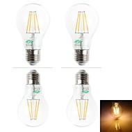 Zweihnder Lâmpada de Filamento LED Decorativa E26/E27 4 W 380 LM 3000-3500 K Branco Quente 4 LED Dip 4 pçs AC 220-240 V BA