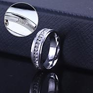 gepersonaliseerde gift unisex ring roestvrij staal gegraveerd sieraden