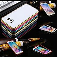 Mert Samsung Galaxy tok Ütésálló Case Védőkeret Case Egyszínű Fém Samsung S6