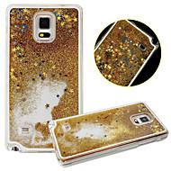 Mert Samsung Galaxy Note Folyékony Case Hátlap Case Csillámpor PC Samsung Note 4