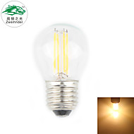 Zweihnder E27 4W 380LM 3000-3500K 4xLED Warm Light Tungsten Filament Lamp (new products,AC 220-240V,1Pcs)