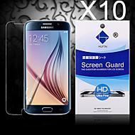 hd screen protector met stof-absorber voor samsung galaxy s6 rand (10 stuks)
