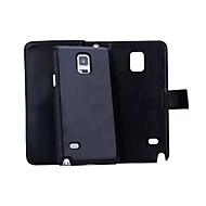 ל Samsung Galaxy Note ארנק / מחזיק כרטיסים / מגנטי מגן גוף מלא מגן צבע אחיד קשיח דמוי עור ל Samsung Note 5 / Note 4 / Note 3