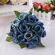 magische blauwe roos bloemen bruidsboeket voor woninginrichting