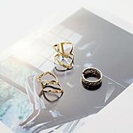 指輪 日常 / カジュアル ジュエリー 合金 女性 関節リング / セット 3件,8 / 調整可 ゴールデン