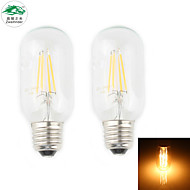 Zweihnder E27 4W 350LM 2700-3000K 4xLEDs Warm Light Tungsten Filament Lamp (new products,AC 220-240V,2Pcs)