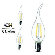 Lámparas LED de Filamento Regulable ONDENN A E14 2 W 2 COB 200 LM Blanco Cálido AC 100-240 V 3 piezas