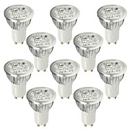 LOHAS® 10PCS GU10 6W 530-580LM 6000-6500K Cold White Light LED Spot Bulb (AC 110-240V)