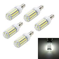 LED a pannocchia 69 SMD 5050 T E14 10W 900-1000 LM Bianco caldo / Luce fredda 5 pezzi AC 220-240 V