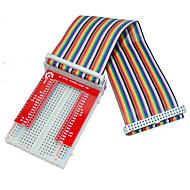 malinowy pie 3 GPIO rozszerzony zestaw diy GPIO (40p + v2 + 400 linii tęczy chleb deska dziura)